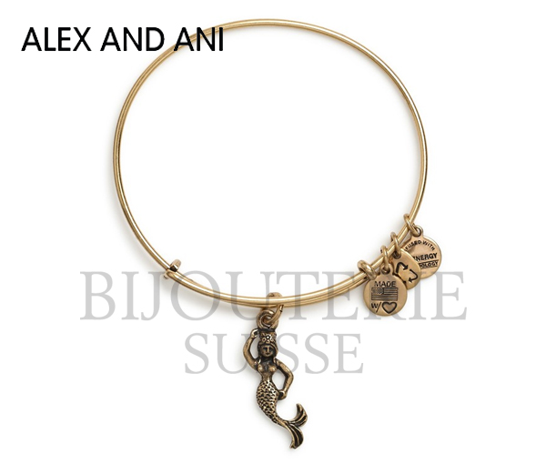 Mermaid expandable wire bangle, rafaelia