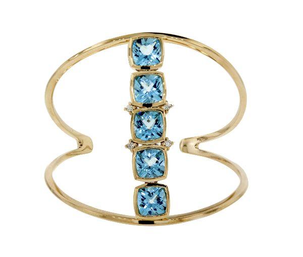 Bracelet 10k 5 top.+4=0,34 diamants can