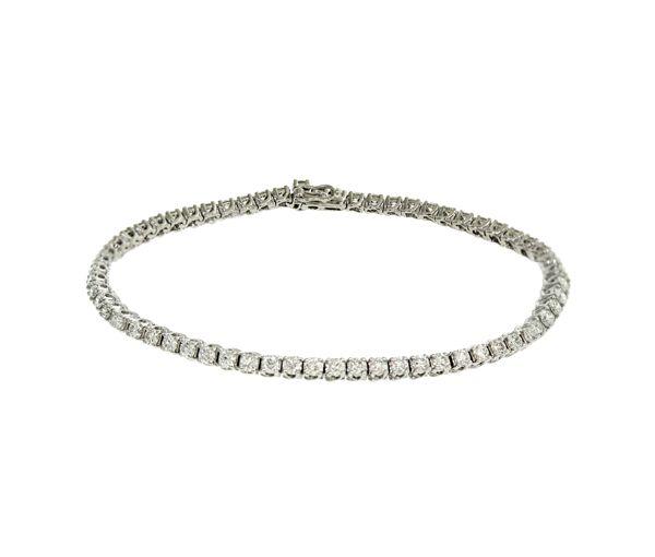Bracelet tennis 18k 63=3,00 diamants