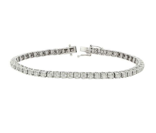Bracelet tennis 14k 45=1,50 diamants