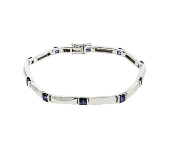 Bracelet 14k 10=2,85 saphirs p/c aaa