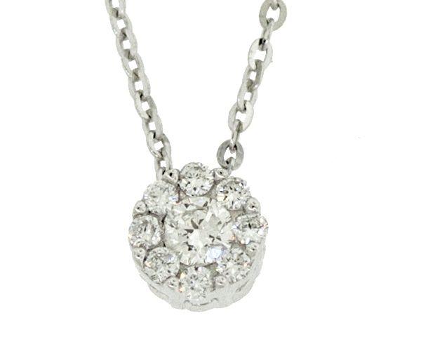 Pendentif 14k 9=0,11 diamant si2 16-18''