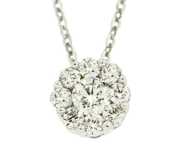 Pendentif 14k 9=0,16 diamant si2 16-18''