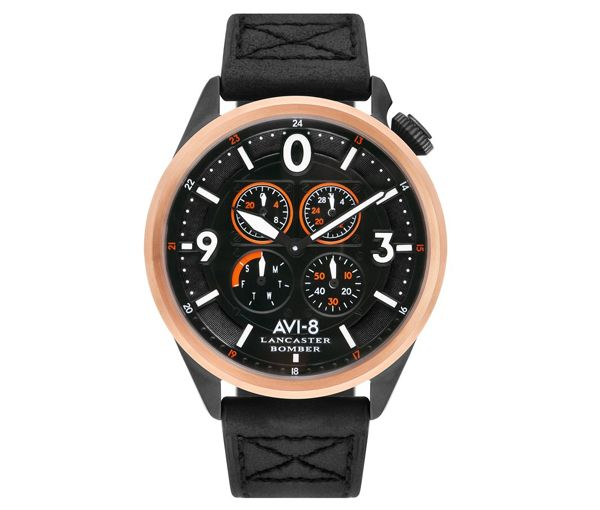 Montre avi-8 aci/pvd noir/or rose min.