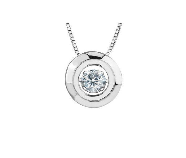 Pendentif pulse 10 blanc 0.20 diamant i1 18''
