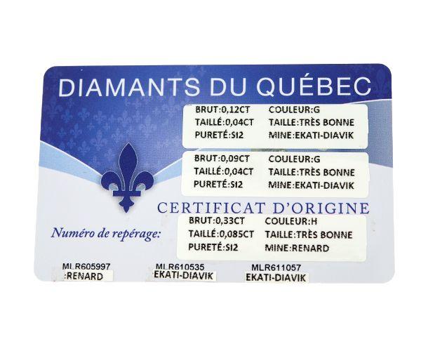 BAGUE DAME TRINITÉ OR 10K 2 TONS SERTIE DE 3 DIAMANTS CANADIENS