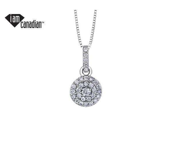 Pendentif 14k blanc 31 diamant=0,175 i2 18''
