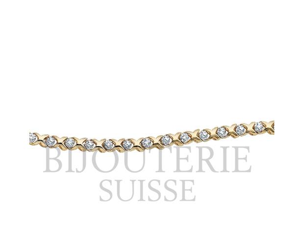 Bracelet dame tennis 10k 15=0,15 diamant i1 7'