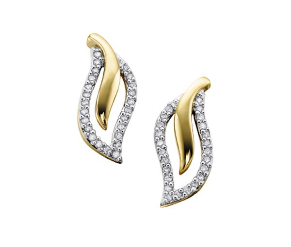 Boucles 10-14k 48=0,25 diamant i1