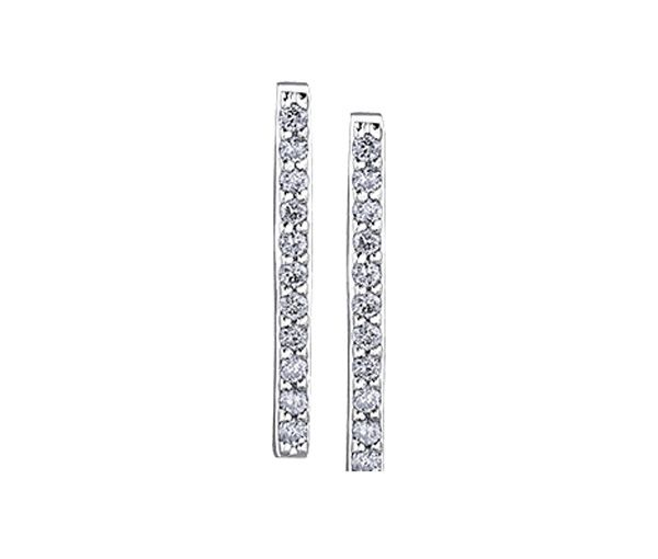 Boucles fixes 10k blanc 22=0,11 diamant i1