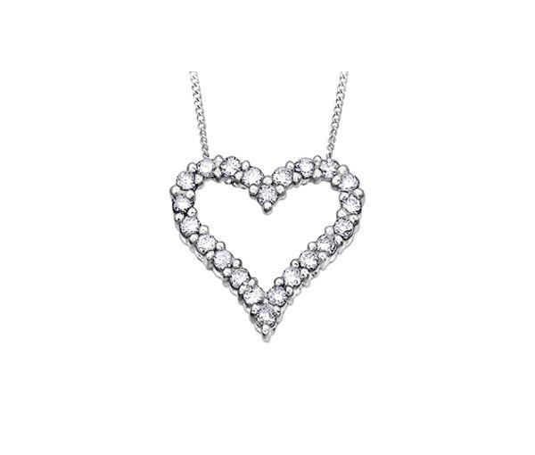 Pendentif coeur 10k 22=0,50 diamant 18''