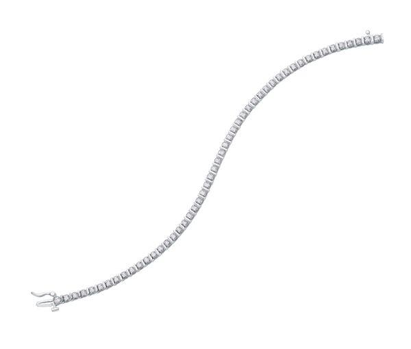 Bracelet tennis 10k bl. 39=1,50 diamant