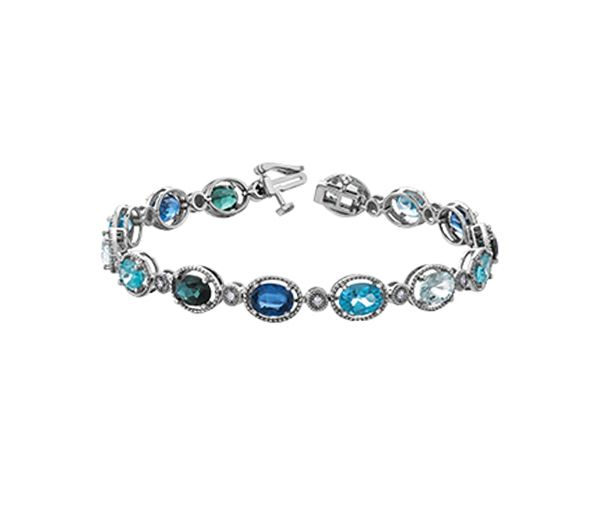 Bracelet 10k 14 pierres+14=0,14 diamants