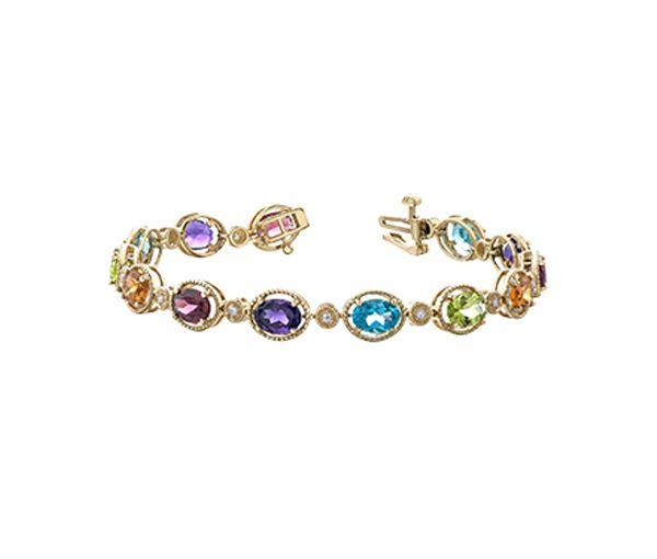 Bracelet 10k 15 pierres+14=0,13 diamant