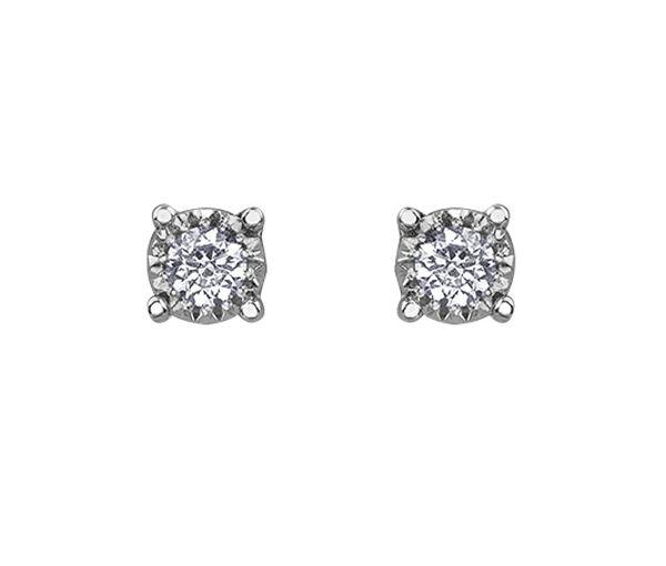 Boucles 10k bl.2 = 0,15 diamants si2