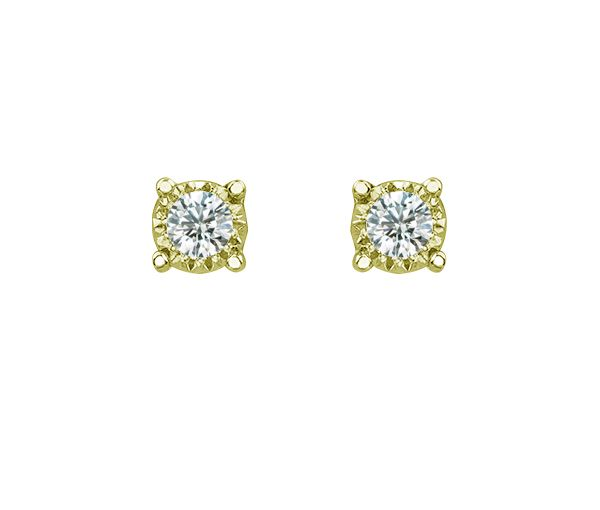Boucles 10k 2 = 0,15 diamants si2