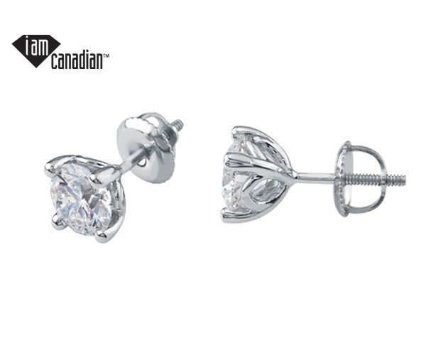 Boucles 14k bl. 2=0,30 diam si1 can