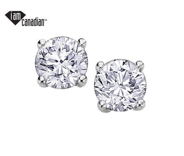 Boucle 14k blanc 2=0,17 diamant canadien