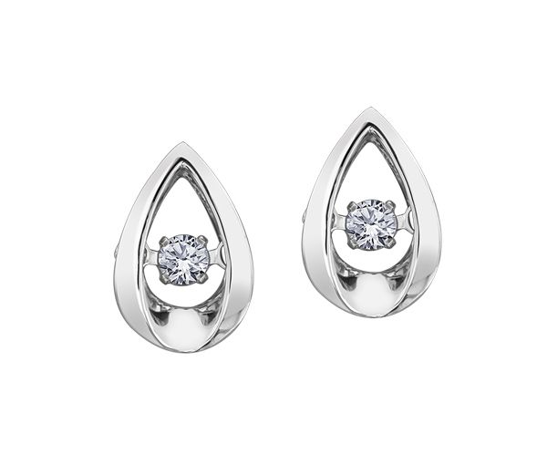 Boucles pulse 10k blanc 2=0,10 diamant canadien i2