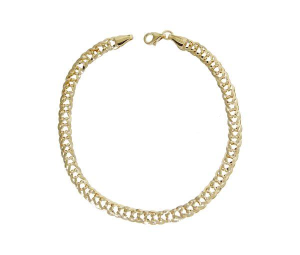 Bracelet 10k gourmette 7.5