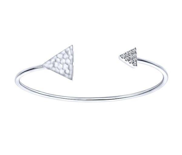 Bracelet 14k blanc 1=0,15 diamants si1