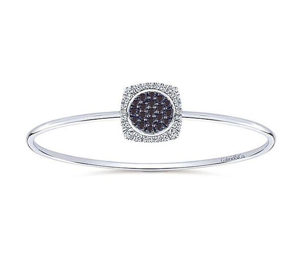 Bracelet 14k 1,00ct diamants noir/blanc