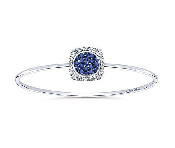 Bracelet 0,96ct saphirs + 0,28ct diamant