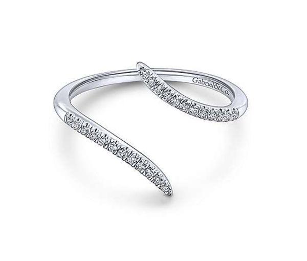 Bague 14k blanc 24=0,10 diamants si1-si2