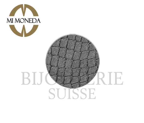 Monnaie anaconda suede gris large