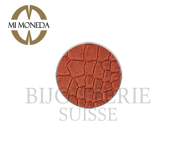 Monnaie anaconda suede orange large