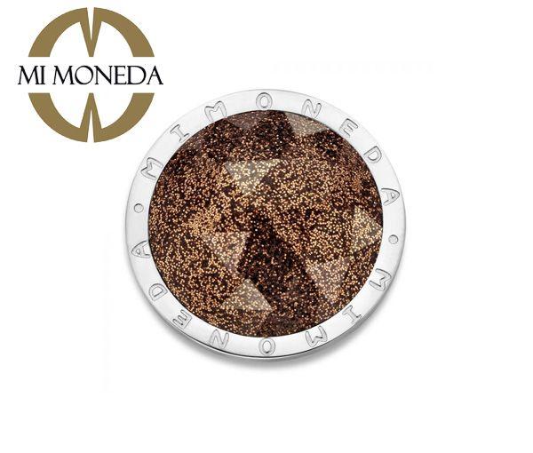 Monnaie cameleon acier pierre brune