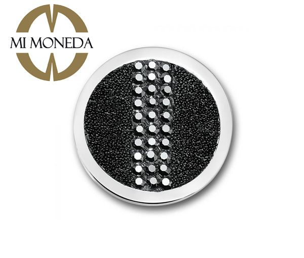Pastille plain aci cristaux noir large