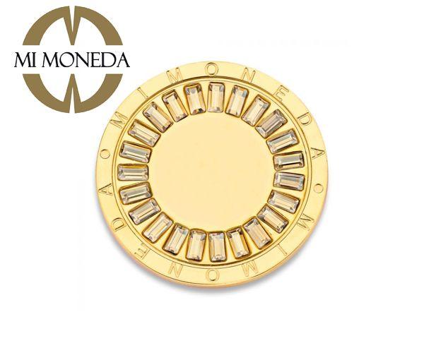 Monnaie sentido acier doré cristaux l