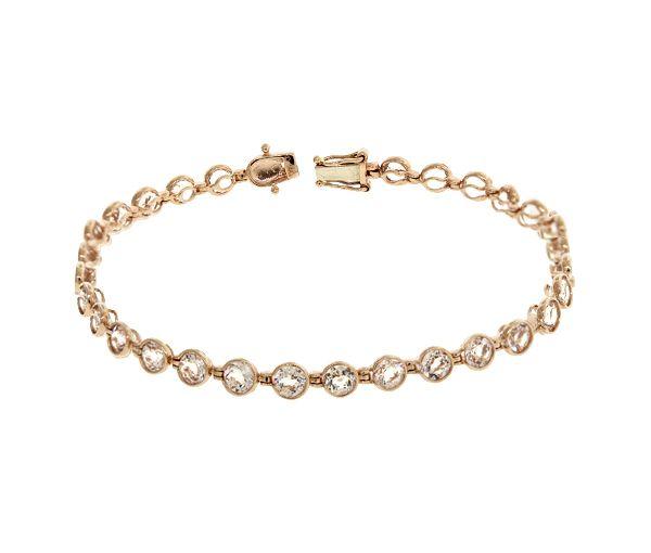 Bracelet 14k rose 29=8,40 morganite