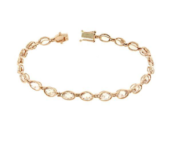 Bracelet 14k rose 20=10,0 morganite