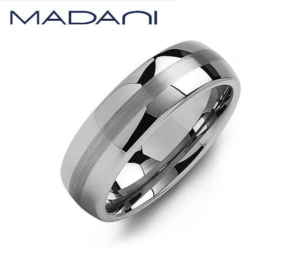 Jonc madani pour homme en tungsten