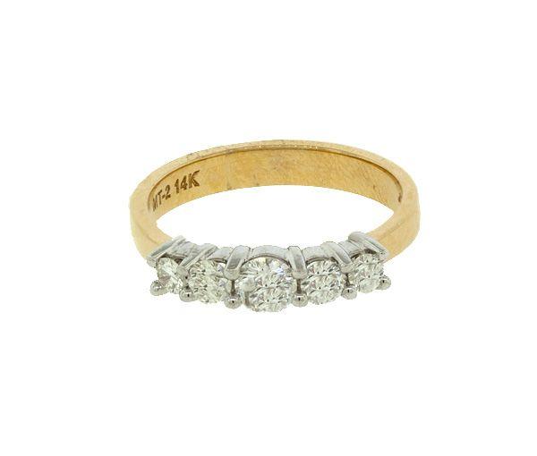Joli jonc pour dame en or 14k 2 tons serti de diamants