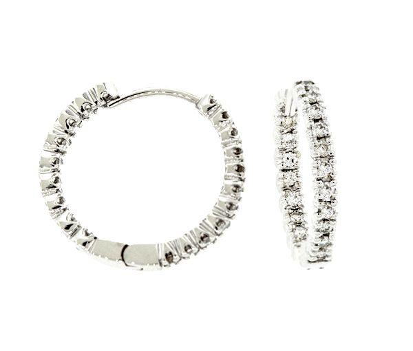 Boucles 14k bl 38=0,75 diamant si2-i1