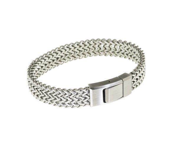 Bracelet acier mèche brillante 8.5