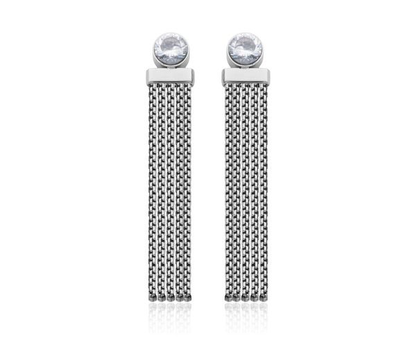 Boucles dangle acier cz 5.5mm