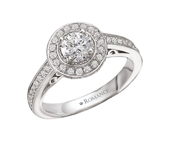 Bague dame or 14k blanc sertie de diamants et d'un cubique zirconia