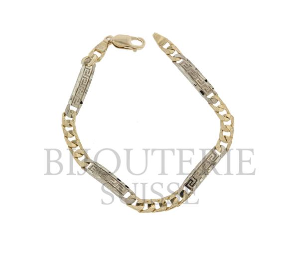 Bracelet dame 10k 2 ton versace 7''