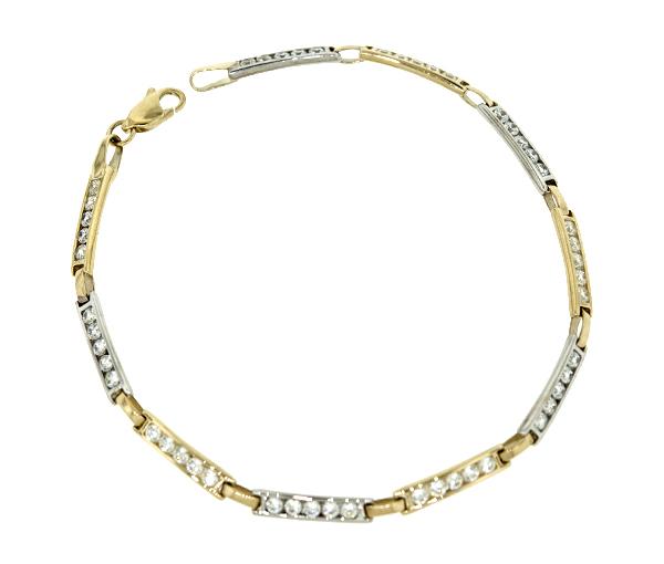 Bracelet 10k 2t cz 3mm