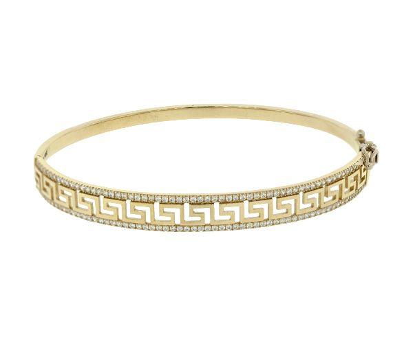 Bracelet 10k 2t bangle