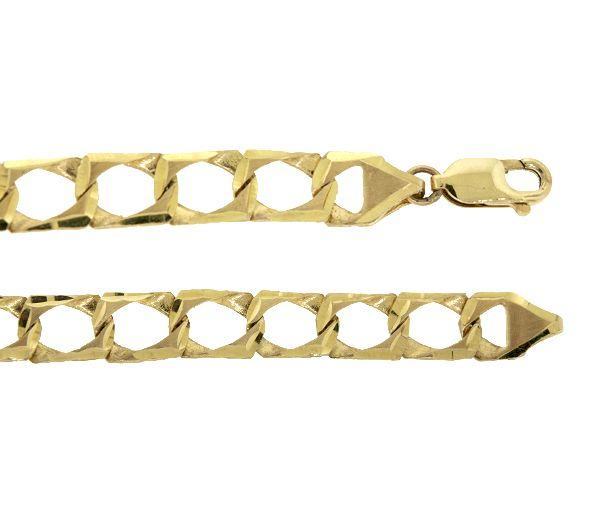 Bracelet 10k gourmette 8.3mm 7''