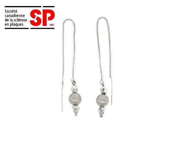 B.o. argent perles grises