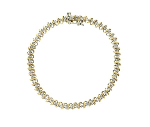 Bracelet 14k 2t 55=0,75 diamant si2-i1 7
