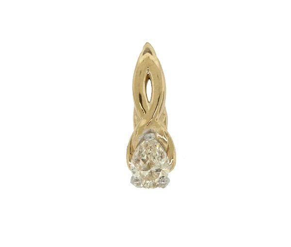 Pendentif 14k 0,40 diamant poire i1