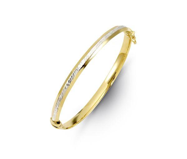Bracelet 10k 2t 4.5mm largeur