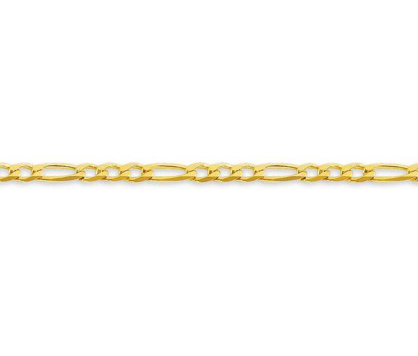 Bracelet dame 10k 7'' figaro